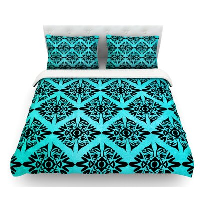 Eye Symmetry Pattern by Pom Graphic Design Featherweight Duvet Cover Size: Queen