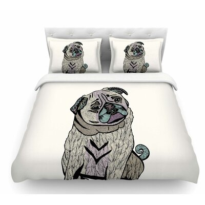 Ares the Pug by Pom Graphic Design Featherweight Duvet Cover Size: King