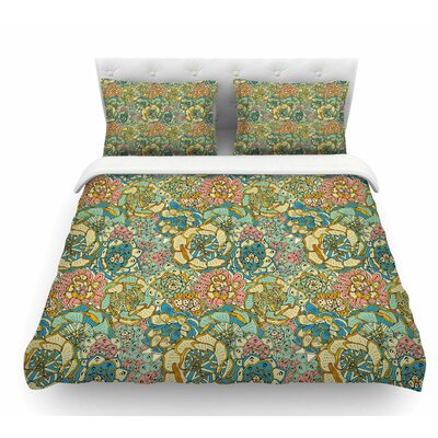 Blooming Succlents by Pom Graphic Design Featherweight Duvet Cover Size: Queen