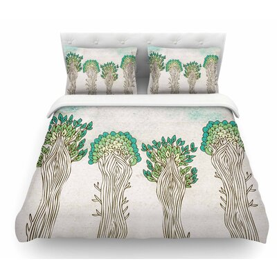 Amazon Trees by Pom Graphic Design Nature Featherweight Duvet Cover Size: Queen
