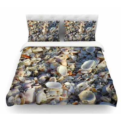 Seashells on the Beach by Philip Brown Coral Nature Featherweight Duvet Cover Size: Twin