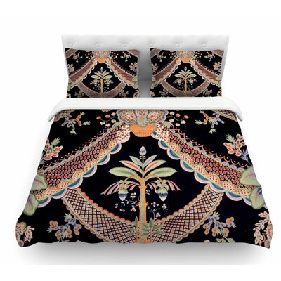 Vintage Paisley Pattern by Philip Brown Art Deco Featherweight Duvet Cover Size: King