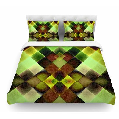 Colorful Squares by Pia Schneider Featherweight Duvet Cover Size: King