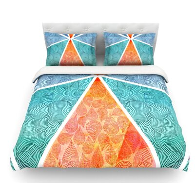 Pyramids of Giza by Pom Graphic Design Featherweight Duvet Cover Size: Queen