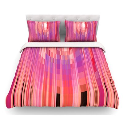 Mohave Sun by Nina May Geometric Featherweight Duvet Cover Size: Twin