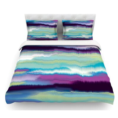 Artika by Nina May Featherweight Duvet Cover Color: Teal/Purple/Blue, Size: King