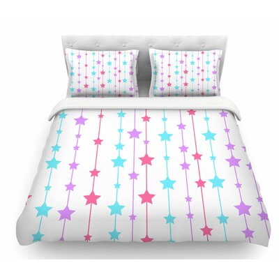 Pastel Stars by NL Designs Pastel Featherweight Duvet Cover Size: King