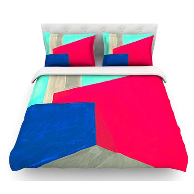 Corner by Oriana Cordero Geometry Featherweight Duvet Cover Size: Twin