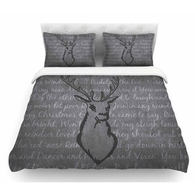 Reindeer by NL Designs Featherweight Duvet Cover Size: King
