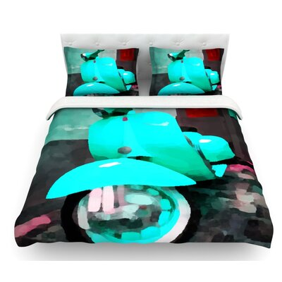 Vespa I by Oriana Cordero Featherweight Duvet Cover Size: King