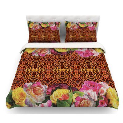 New Rose Eleo by Nina May Featherweight Duvet Cover Size: King
