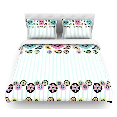 Paisley Party by Nina May Paisley Flower Featherweight Duvet Cover Size: Twin