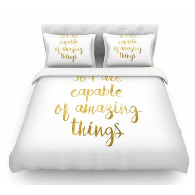 Amazing Things by NL Designs Featherweight Duvet Cover Size: King