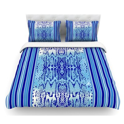 Delf Snake by Nina May Featherweight Duvet Cover Size: King