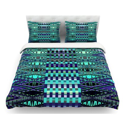 New Kilim Seafoam by Nina May Featherweight Duvet Cover Size: Queen