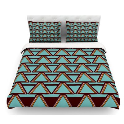 Deco Angels by Nina May Featherweight Duvet Cover Color: Mint/Chocolate, Size: King