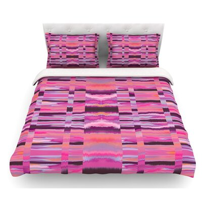 Samanna by Nina May Tribal Featherweight Duvet Cover Color: Pink/Coral, Size: King