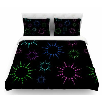 Rainbow Fireworks by NL Designs Geometric Featherweight Duvet Cover Size: King