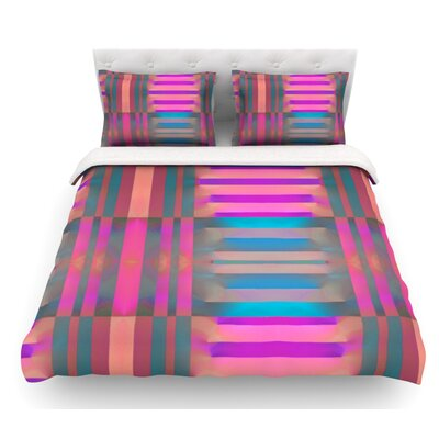 Tracking by Nina May Stripes Featherweight Duvet Cover Size: King