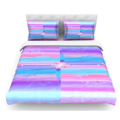Drip Dye by Nina May Pastel Featherweight Duvet Cover Size: Twin