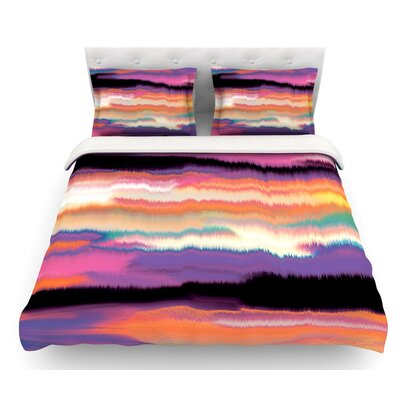 Artika by Nina May Featherweight Duvet Cover Size: Queen, Color: Purple/Orange