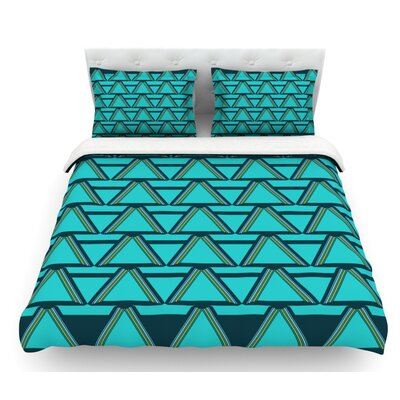 Deco Angels by Nina May Featherweight Duvet Cover Size: King, Color: Gray/Mint