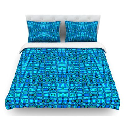 Variblue by Nina May Featherweight Duvet Cover Size: Twin