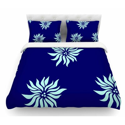Snow Flowers by NL Designs Featherweight Duvet Cover Size: Queen