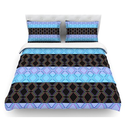 Denin Diamond by Nina May Featherweight Duvet Cover Size: Twin, Color: Blue/Black