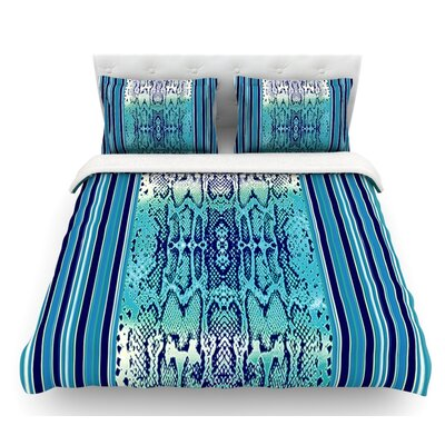 Snake by Nina May Featherweight Duvet Cover Size: Twin