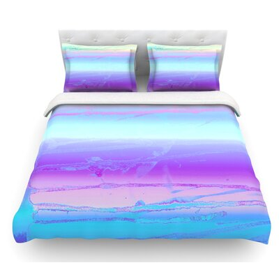 Drip Dye by Nina May Pastel Featherweight Duvet Cover Size: King, Color: Blue