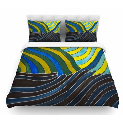 Desert Waves by NL Designs Featherweight Duvet Cover Size: King