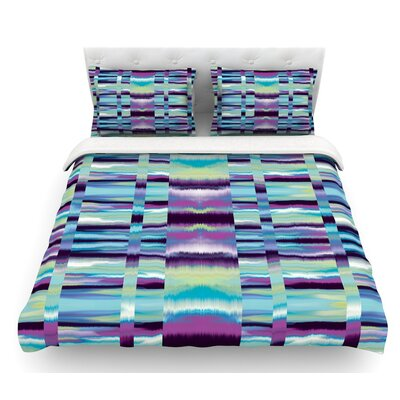 Samanna by Nina May Tribal Featherweight Duvet Cover Size: King, Color: Blue