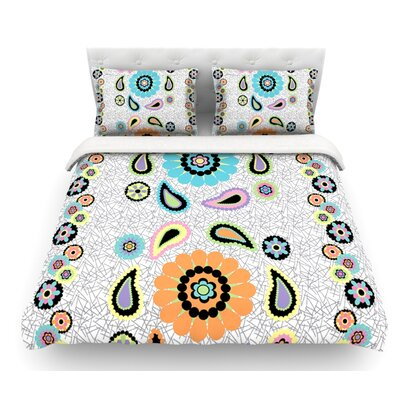 Moda Paisley by Nina May Paisley Flower Featherweight Duvet Cover Size: Queen