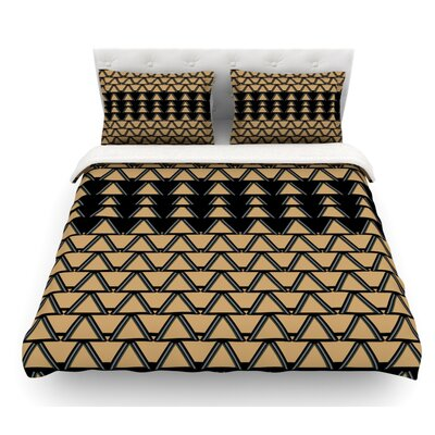 Deco Angles by Nina May Featherweight Duvet Cover Size: Twin