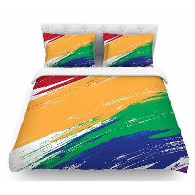 Rainbow Paint by NL Designs Illustration Featherweight Duvet Cover Size: Queen