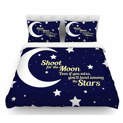 Moon and Stars Quote by NL Designs Featherweight Duvet Cover Size: King