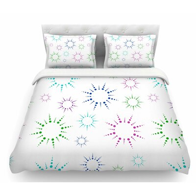 Rainbow Fireworks by NL Designs Featherweight Duvet Cover Size: Twin