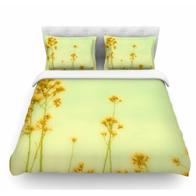 Abstract Wild Flowers by Sylvia Coomes Featherweight Duvet Cover Size: Twin