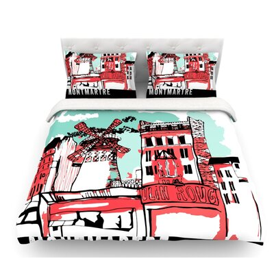 Montmartre by Theresa Giolzetti Featherweight Duvet Cover Size: Twin