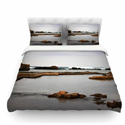 Dark Sea by Sylvia Coomes Coastal Featherweight Duvet Cover Size: King