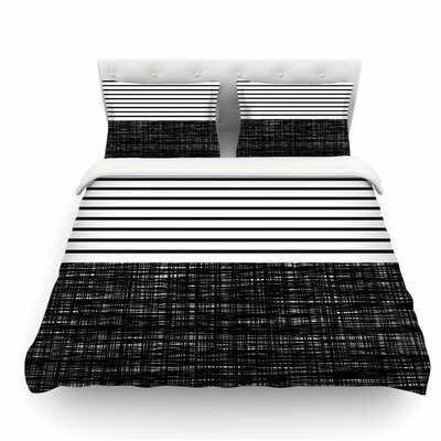 Platno Stripes by Trebam Featherweight Duvet Cover Size: King