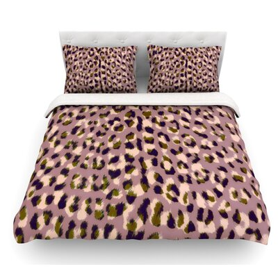 Leo Cheetah by Vasare Nar Animal Featherweight Duvet Cover Size: King