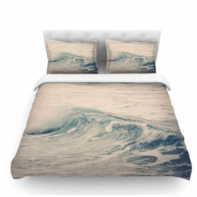 Waves 1 by Sylvia Coomes Coastal Featherweight Duvet Cover Size: Twin