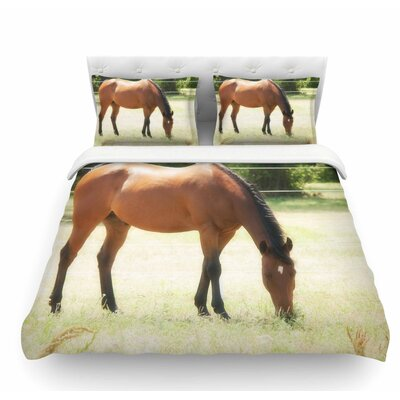 Grazing by Sylvia Coomes Animals Featherweight Duvet Cover Size: Queen