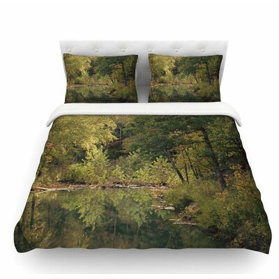 In the Woods 3 by Sylvia Coomes Featherweight Duvet Cover Size: Queen
