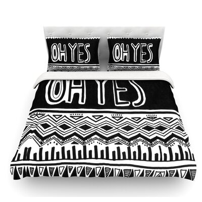 Oh Yes by Vasare Nar Featherweight Duvet Cover Size: Twin