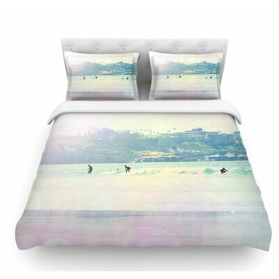 Rainbow I by Sylvia Coomes Featherweight Duvet Cover Size: Queen
