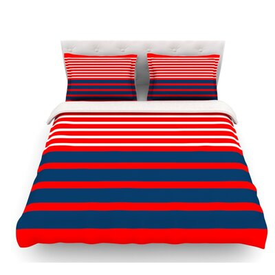 Nauticki by Trebam Lines Featherweight Duvet Cover Size: Queen