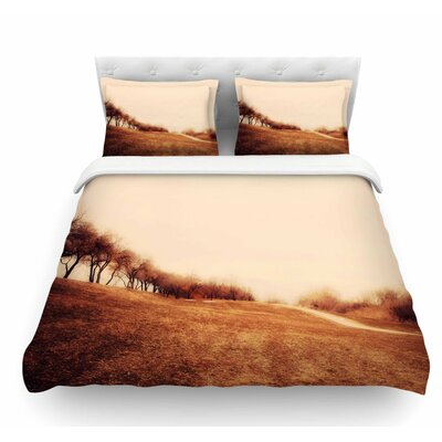 Minimalist Autumn Landscape by Sylvia Coomes Featherweight Duvet Cover Size: King